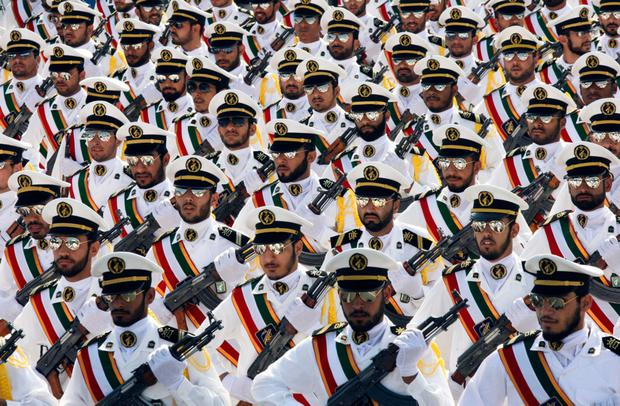 Naval officers from Iran's Revolutionary Guard. Photo: Reuters