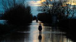 Extra capital spending will never eliminate flood damage and the schemes announced last week will take many years to implement. Photo: PA