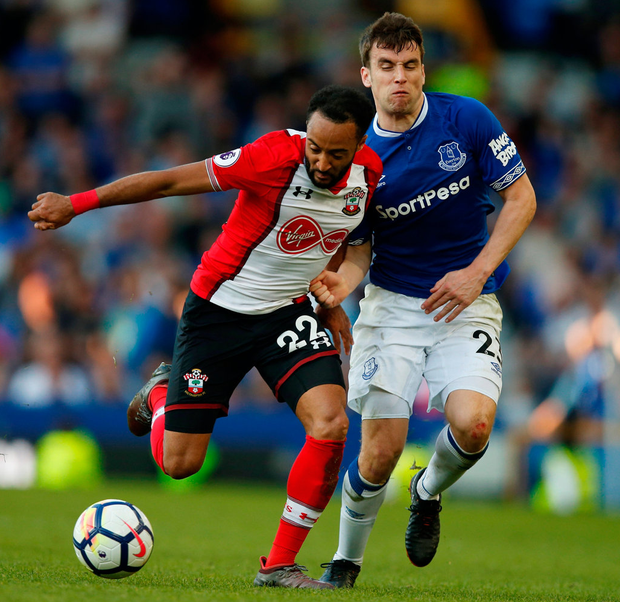 Southampton's Nathan Redmond in action with Everton's Morgan Schneiderlin. Photo: Andrew Yates/Reuters