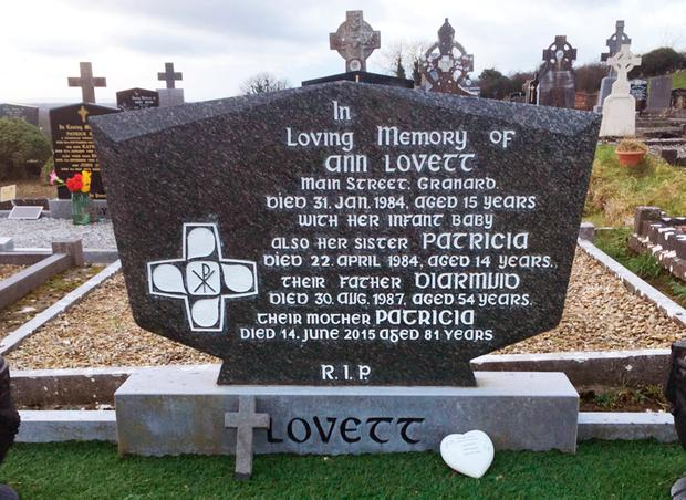 The grave in Granard of schoolgirl Ann Lovett, who died in childbirth at a church grotto