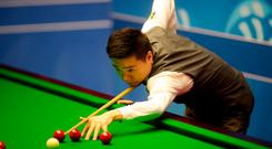 'Ding Junhui was another brilliant-but-brittle victim of the Crucible last week.' Photo: PA