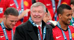 File photo dated 12-05-1996 of Sir Alex Ferguson. Sir Alex Ferguson has undergone emergency surgery today for a brain haemorrhage, his former club Manchester United have announced. Photo ;Mike Egerton/PA Wire.