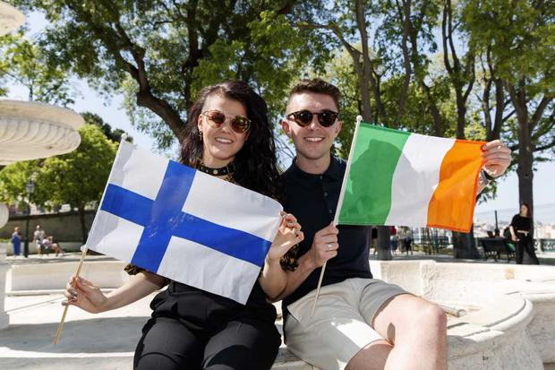 Saara Aalton (Finland) and Ireland's Ryan O'Shaughnessy in Lisbon. PIC: Andres Poveda
