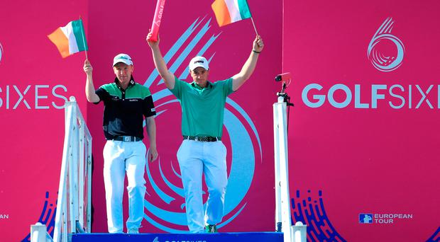 Bumper payday for Paul Dunne and Gavin Moynihan as Ireland win GolfSixes
