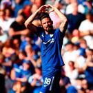 Olivier Giroud of Chelsea celebrates after scoring his side's first goal
