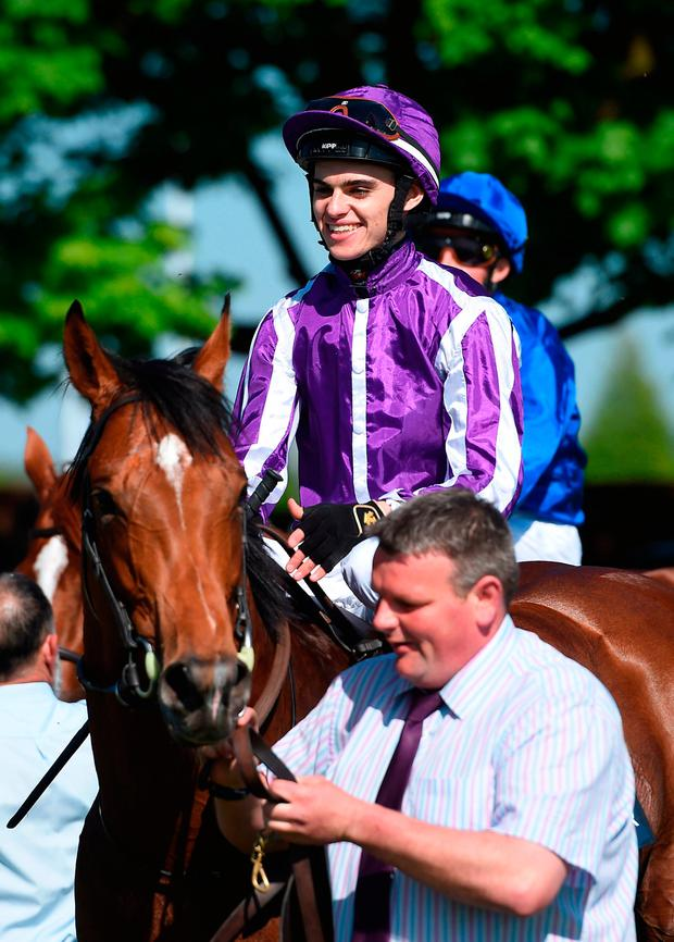 WINNER: Saxon Warrior, ridden by Donnacha O'Brien, after winning the Qipco 2000 Guineas Stakes at Newmarket. Photo: PA