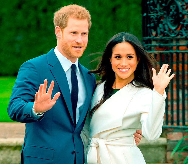 Britain's Prince Harry and his fiancée, US actress Meghan Markle. Photo: Dominic Lipinski/PA