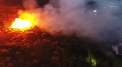 Gorse fire in the Dublin Mountains Photo: Dublin Fire Brigade