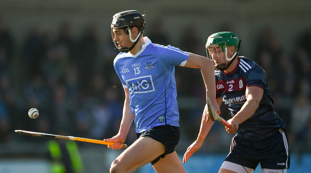 TOP TALENT: Dublin's Ronan Hayes pictured in action against Adrian Touhy of Galway during the Allianz Hurling League Division 1B Round 4 match at Parnell Park last February. Photo: Sportsfile