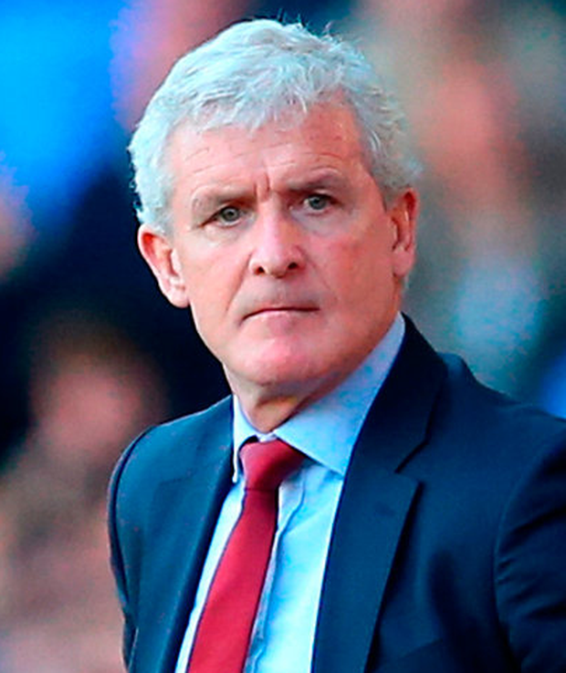 Hughes has a contract until the end of the season and while his prospects of being offered a longer deal will be influenced by whether Southampton do stay up, many players believe that he has added an intensity and focus to training. Photo: Getty Images