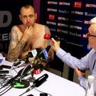 Having won the World Championship, Mark Williams fulfilled his promise to perform his victorious press conference naked. Photo: Richard Sellers/PA Wire