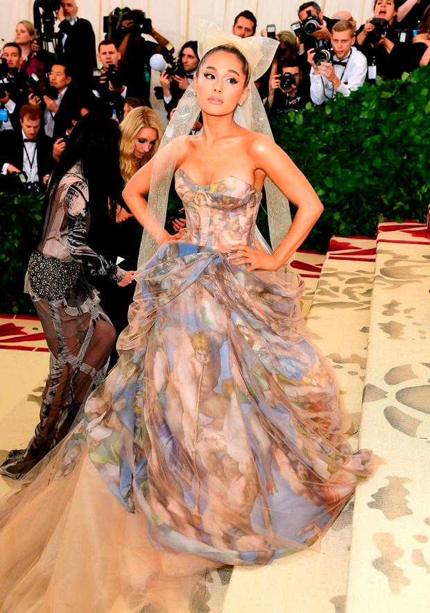 Ariana Grande attending the Metropolitan Museum of Art Costume Institute Benefit Gala 2018 in New York, USA. Ian West/PA Wire