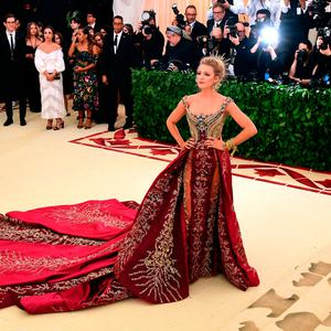 Blake Lively attending the Metropolitan Museum of Art Costume Institute Benefit Gala 2018 in New York, USA. Ian West/PA Wire