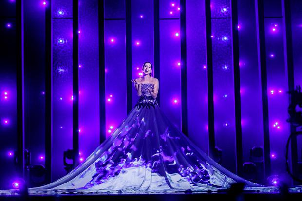 Estonia's Elina Nechayeva performes 'La Forza' for the Eurovision Song Contest dress rehearsal for semi-final 1. Picture Andres Poveda
