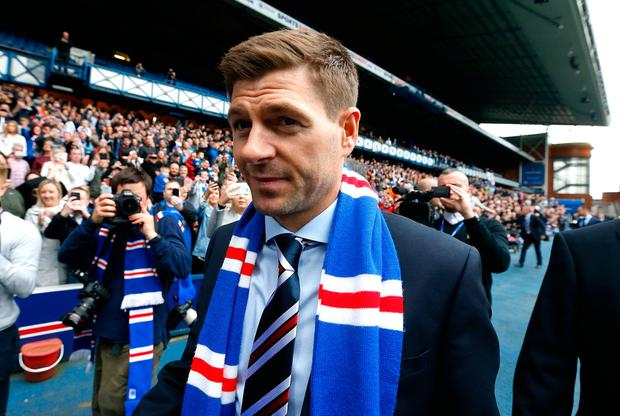 Rangers new manager Steven Gerrard during a press conference at Ibrox Stadium