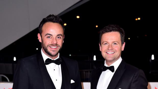 Ant was absent from the last episodes of Saturday Night Takeaway (Matt Crossick/PA)