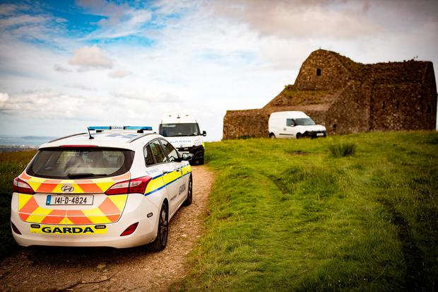 Gardaí at the scene at the HellFire Club Photo: Arthur Carron