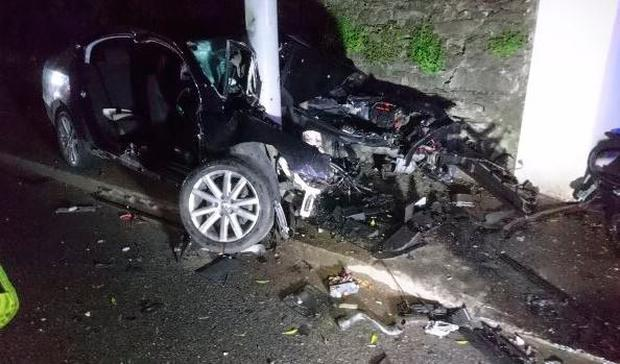 Cork City Brigade attend scene of crash on Douglas Road overnight