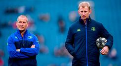 Many said it wouldn't last but the partnership of Stuart Lancaster and head coach Leo Cullen at Leinster has so far proved a marriage made in rugby heaven. Photo by Stephen McCarthy/Sportsfile