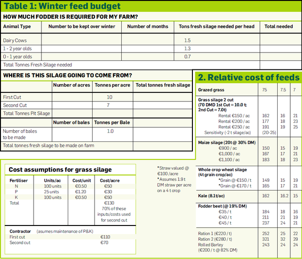 How to calculate now how much silage you will need next