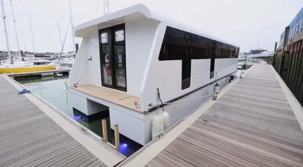 With property prices in London continuing to increase, one woman took matters into her own hands and built her own floating dream home.