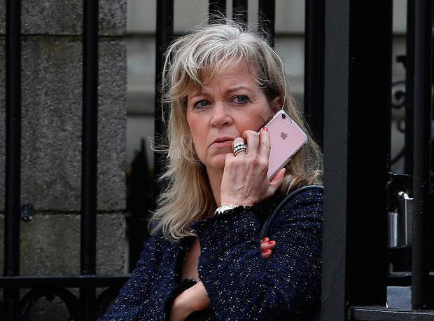 Helen Casey, mother of Conor Casey, at the Four Courts yesterday. Photo: Collins Courts