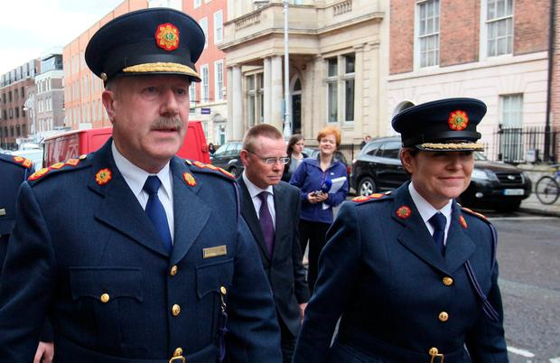 Laptops unaccounted for: Former Garda commissioners Martin Callinan and Nóirín O'Sullivan. Photo: Damien Eagers/Irish Independent