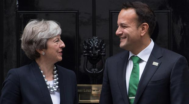Taoiseach Leo Varadkar and British Prime Minister Theresa May. Photo: Carl Court/Getty Images