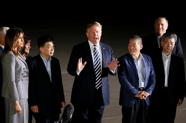U.S.  detainees thank Trump and God for release from North Korea