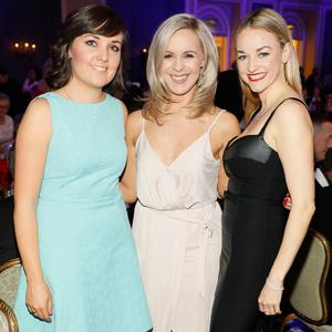 Louise Reynolds, Kelly O'Brien and Fiona McArdle at the UCD Business Alumni of the Year 2018 awards at the InterContinental Hotel, Dublin. Picture: Kieran Harnett