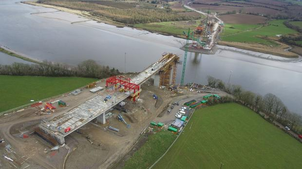 Image of the bridge under construction via N25NewRoss.ie