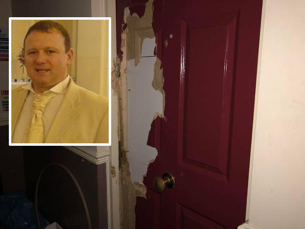 Damage done to an apartment in Mountjoy Square after up to 10 heavies forced their way in and inset, landlord Paul Howard