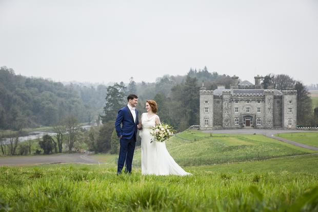 066319aec Wedding inspiration  Modern Irish style at the mystical Slane Castle ...