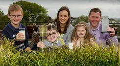 Lorna and her husband Paul with their children, Luke, Reece and Amy Photo: James Connolly