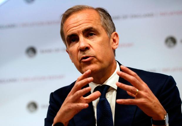 Bank of England Governor Mark Carney speaks during the central bank's quarterly inflation report press conference in the City of London. Photo: PA