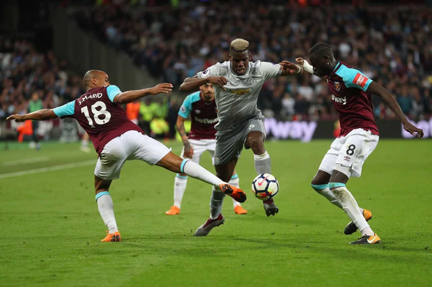 Paul Pogba failed to inspire Manchester United to a win at West Ham