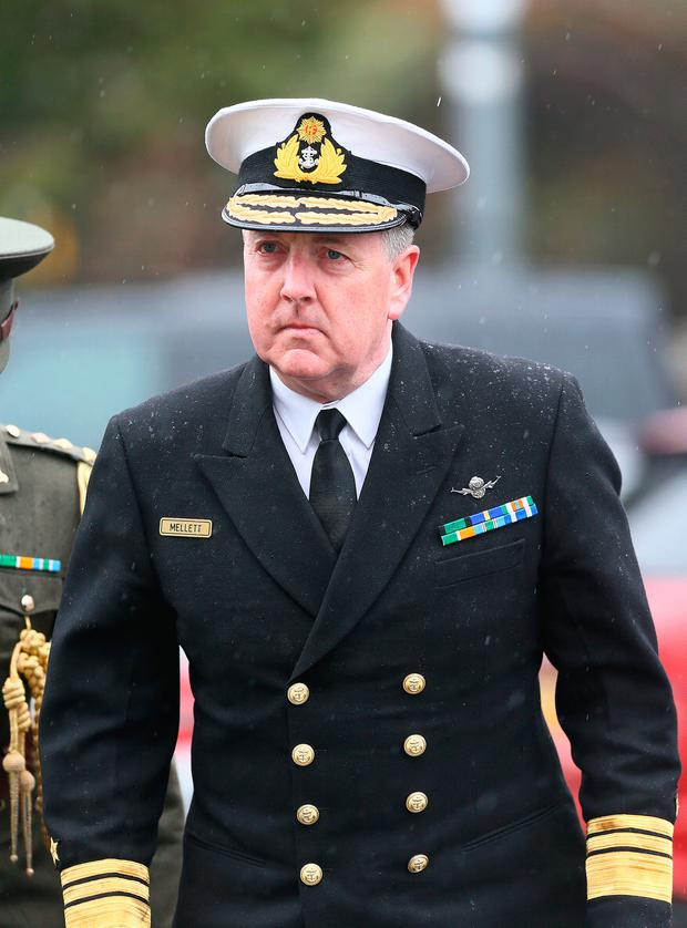 Vice Admiral Mark Mellett said yesterday that his main priority was the safety of Irish troops and the area where they operate was back to normal yesterday.