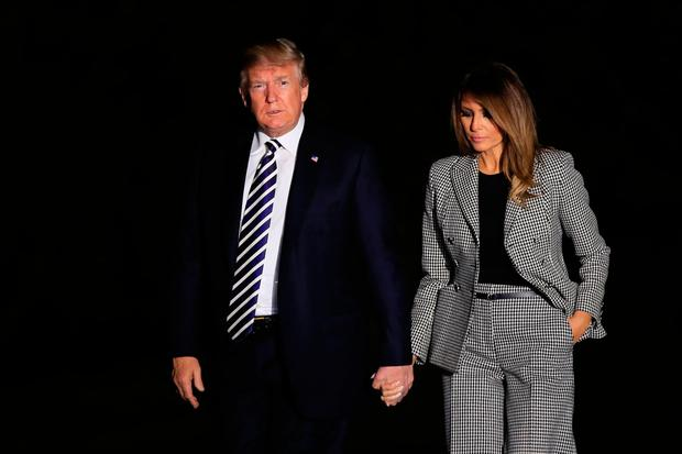 US President Donald Trump and First Lady Melania after greeting the freed Americans. Photo: AP