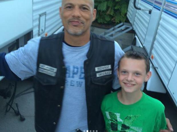 David Labrava with his son Tycho. PIC: David Labrava/Instagram