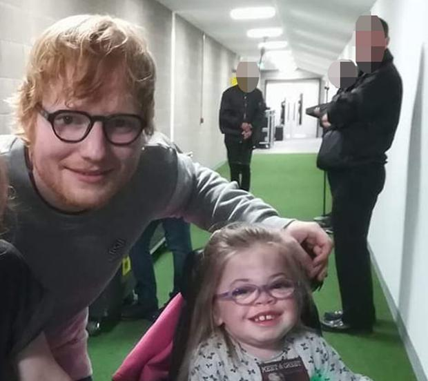 Aoibhe O'Connor with Ed Sheeran (image via Bumblance Facebook page)