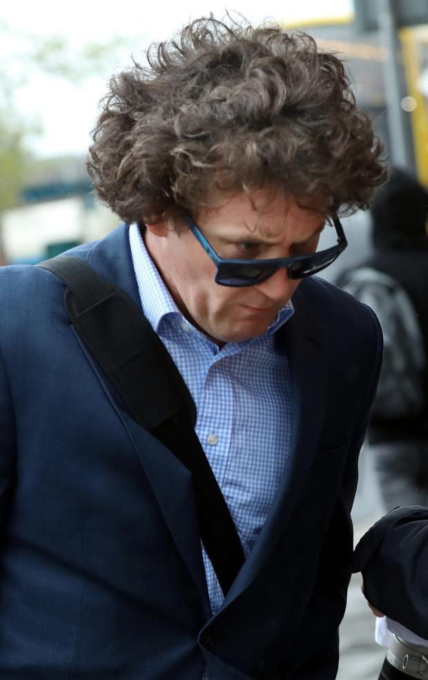 Eddie Og O'Reilly pictured arriving at the Four Courts yesterday for a Circuit Civil Court action Photo: Collins Courts
