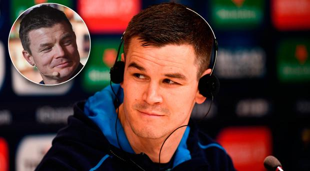 Johnny Sexton is improving with age, according to Brian O'Driscoll (inset)