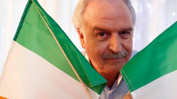 Irish eyes are smiling ... Marty Whelan finally gets to celebrate Eurovision success