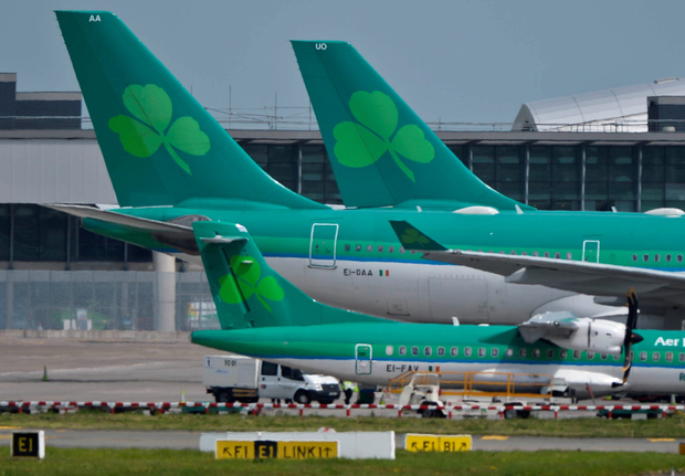 An Aer Lingus flight to Bilbao has been overbooked causing delays