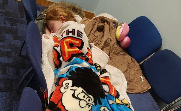 Kya (10) had to sleep on a makeshift bed at a garda station when her family was made homeless