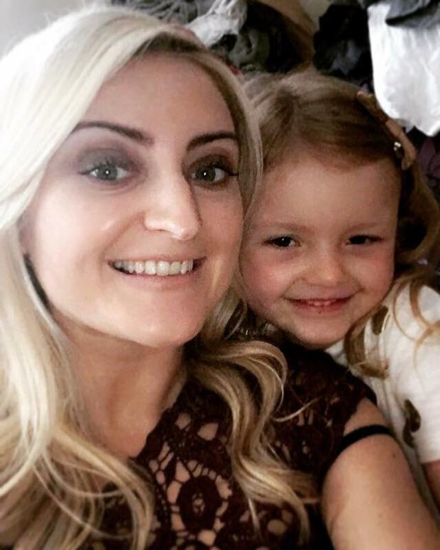 Catherine Reck's daughter Grace Rattigan pictured with her daughter