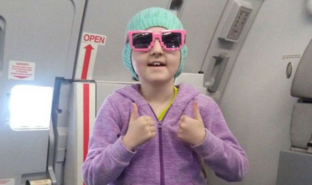 Robyn on her way to the US for treatment in 2016. Pic: Robynslife / Instagram