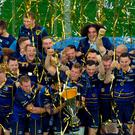 Leinster Rugby celebrate with the trophy after winning the European Champions Cup last year REUTERS/Vincent West