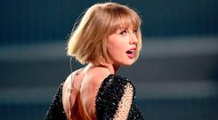 SNAKE CHARM: Taylor Swift made up with Katy Perry