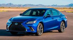 HYBRID LUXURY: The new ES 300h Lexus replaces the GS model
